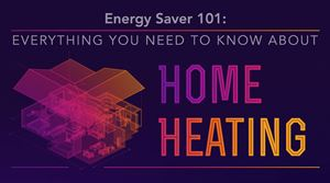 A screenshot of the Energy Saver 101 Infographic: Home Heating  document